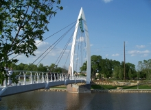 Wichita Riverfront Pedestrian Bridge - Genesis Structures